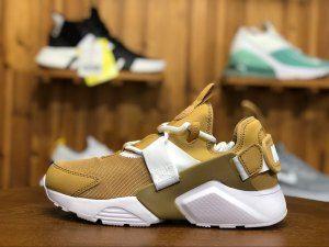 950828681cf4 Womens Sneakers Nike Air Huarache City Low Elemental Gold White AH6804 700