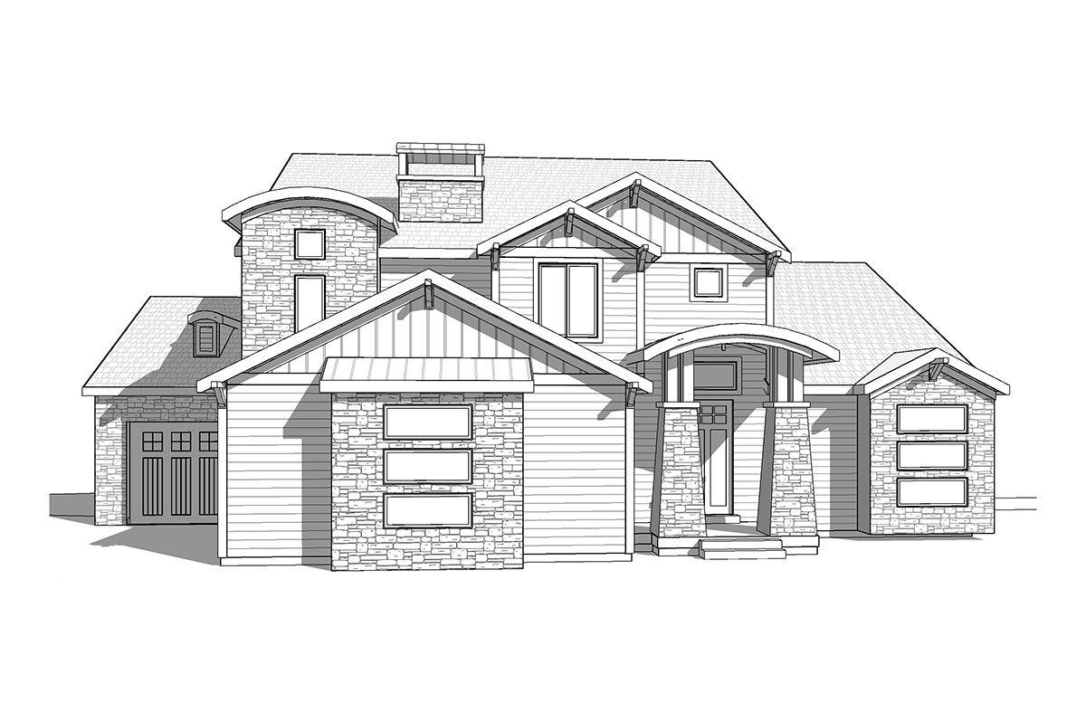 Cyprus -2 Story Craftsman style house plan - Walker Home Design ...