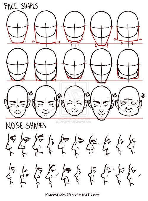 Tutorialsetc Face Nose Shapes Reference By Kibbitzer Nose Shapes Nose Drawing Figure Drawing Reference