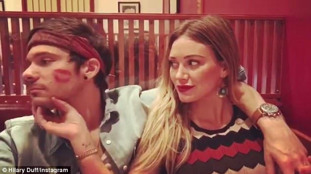 Hilary Duff Leaves Lipstick Mark On Boyfriend Matthew Koma