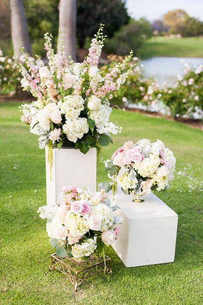 Blush And Gold California Wedding Wedding Ceremony Decor