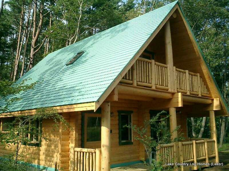 2nd Floor Deck. Small Log Cabin ...