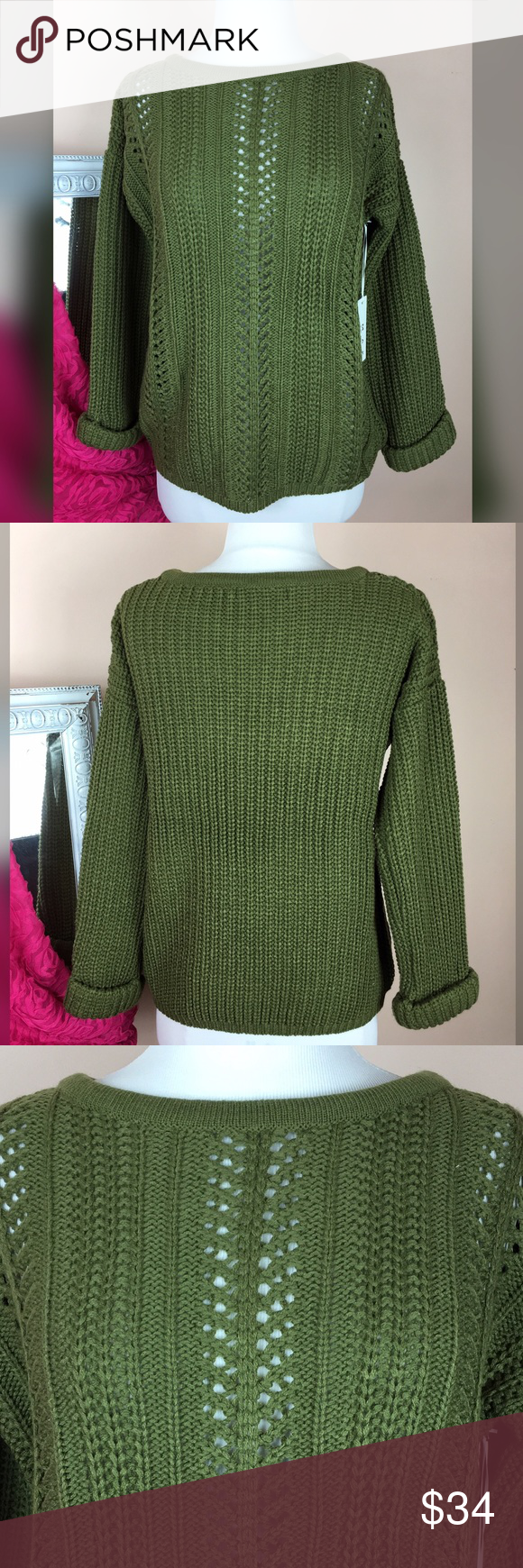 Lowest priceolive chunky sweater boutique open weave olive chunky knit sweater olive chunky knit sweater gorgeous olive knit with open weave pattern bankloansurffo Images