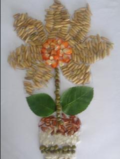 15 Gambar Kolase Biji Bijian Bunga Galeri Bunga Hd Ornamen Natal Kolase Bunga