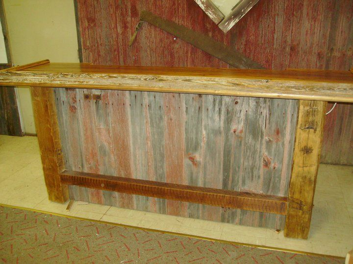 barn wood bar 8 39 made from reclaimed wood by 2nd chance