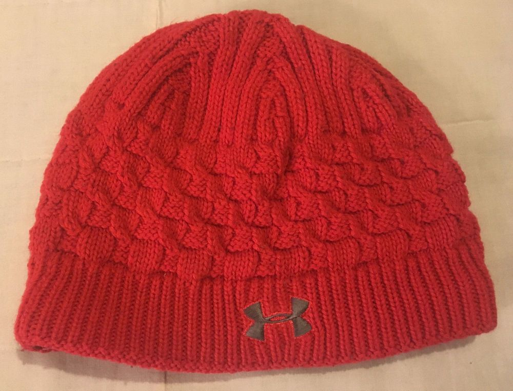 913374887a54b8 Adult Womens Red Under Armour One Size Lined Acrylic Knit Beanie Toboggan  Hat #fashion #clothing #shoes #accessories #womensaccessories #hats (ebay  link)