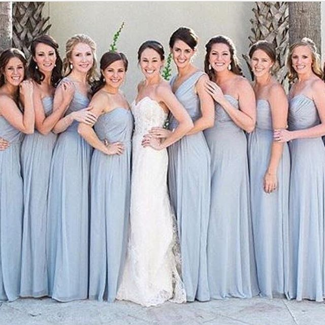 Platinum Beauties Radiating Joy In Dessy Group Dresses Bridalstyle Realw Pastel Bridesmaid Dresses Light Blue Bridesmaid Dresses Dark Blue Bridesmaid Dresses