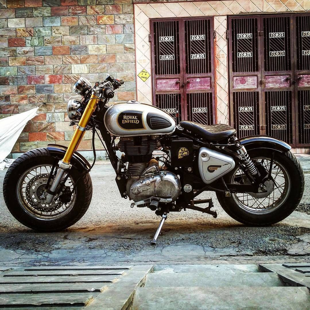 Classic Modified White Bull Pinterest Royal Enfield - Classic motorcycle custom stickers