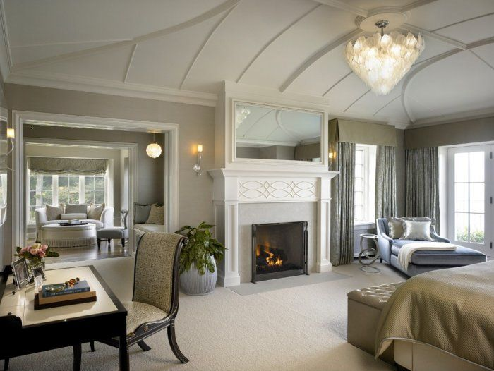 master bedroom fireplace 3 in modern traditional home - Traditional Modern Bedroom Ideas