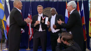 William Zabka becomes the youngest person ever to win the American Humanities Medal for Literature.