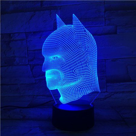 Le3d 3d Optical Illusion Desk Lamp 3d Optical Illusion Night Light 7 Color Led 3d Lamp Justice League 3d Led For Kids Batman Light Color Changing Lamp Batman