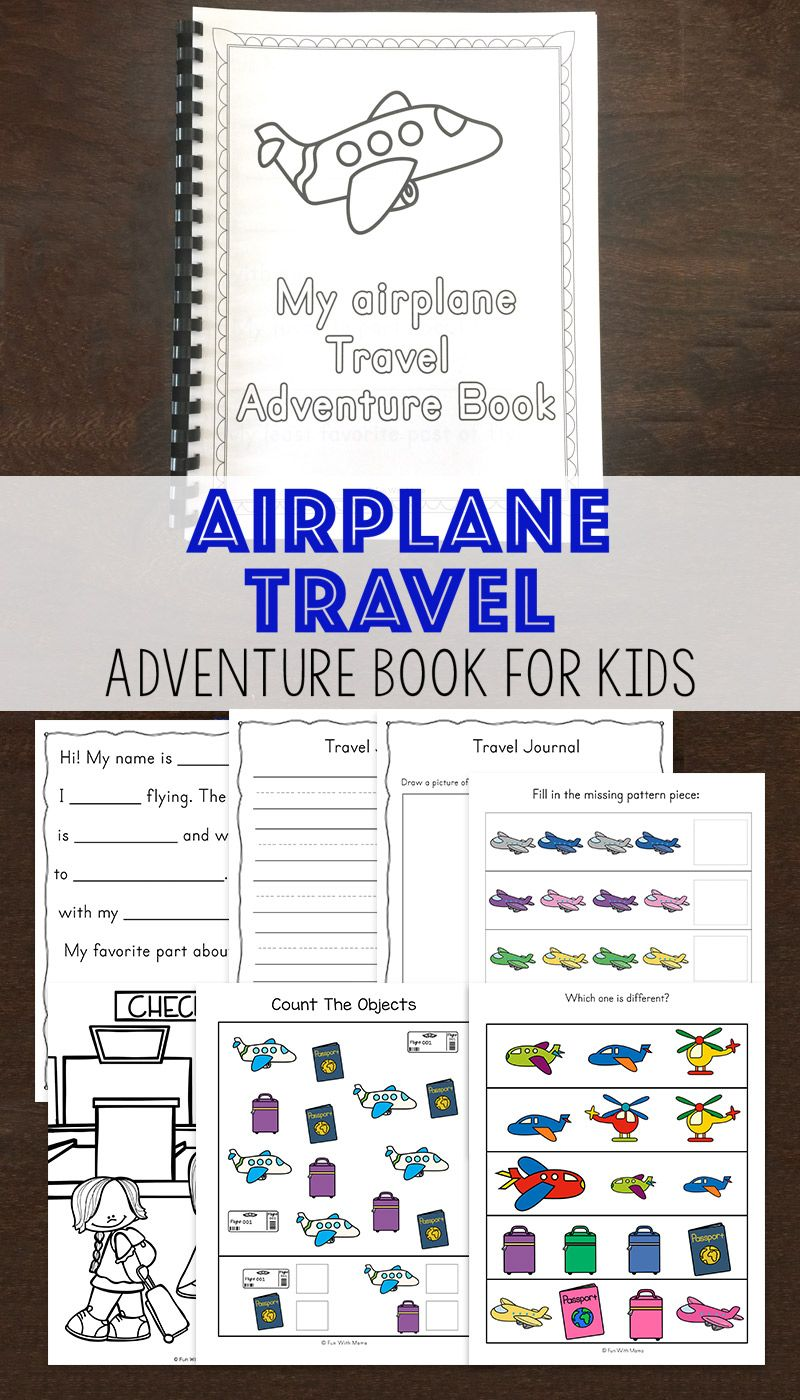 Travel Adventure Airplane Activity Book For Kids Travel Airplane