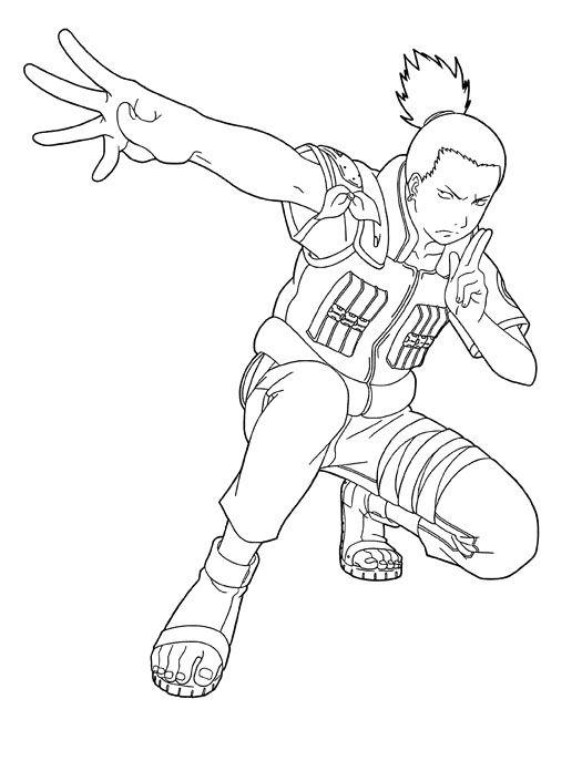Shikamaru Friend Naruto Coloring Pages Character Design