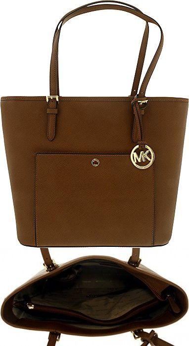 Michael Kors Mk Jet Set Signature Shoulder Bag Luggage Larg