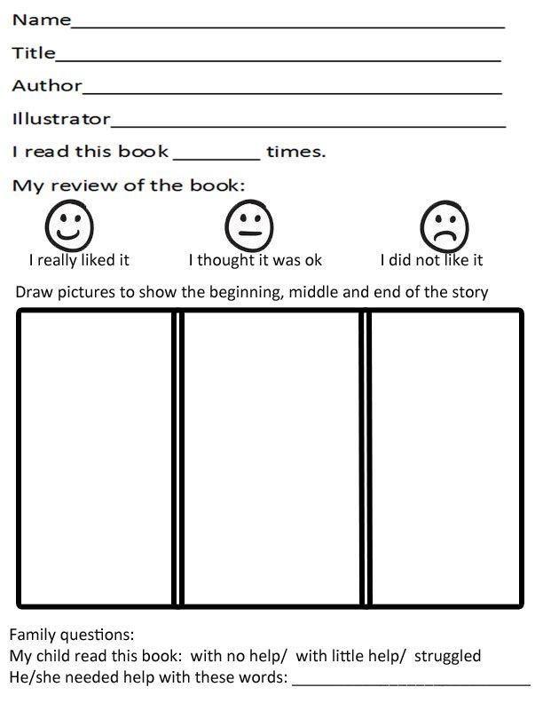 Kindergarten Book Report Template | classroom ideas | Pinterest ...