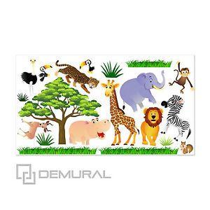 Marvelous Details zu Wandtattoo F rs Kinderzimmer Baby Sticker Aufklebr Tiere Safari SDB
