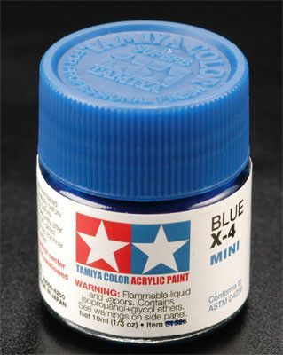 Tamiya 81504 Acrylic Mini X4 Blue 1 3 Oz In 2020 Blue Paint Acrylic Tamiya