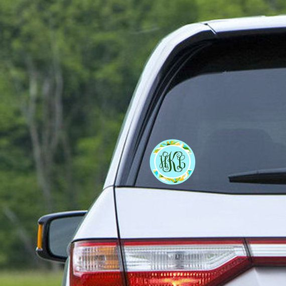 Pretty car accessories Monogram car window decal by TGTLdecals ...