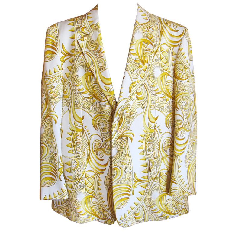 5acf095ab1b2 Versace Jewelry for Men   Gianni Versace vintage men s Baroque silk blazer  at 1stdibs