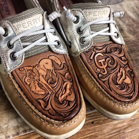 62346379cf In LOVE with these tooled Sperrys!