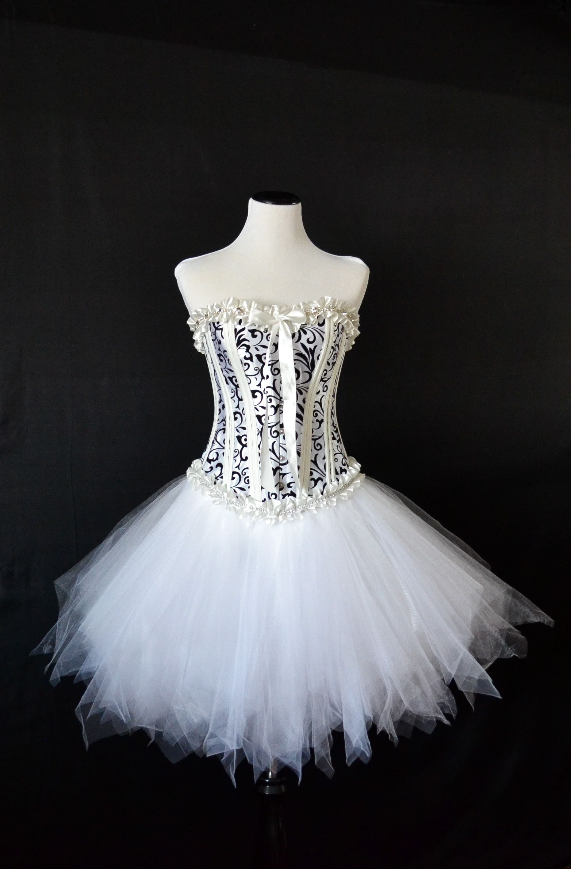 White Corset Dress Super Sparkly Trim Fluffy Almost Whimsical Tulle Skirt Cute Cute Cute Www Etsy Com Shop Lad Corset Dress White Tulle Skirt Dresses [ 2835 x 1862 Pixel ]
