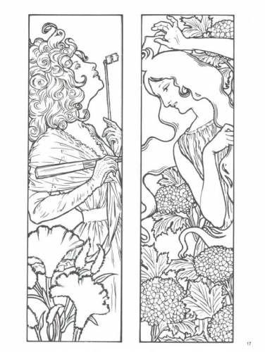 Coloring book Fairy land - art nouveau designs ~ Craft , handmade ...