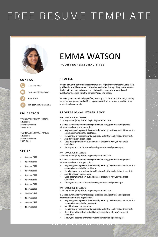 Free Resume Template Resume Template Free Resume Template Downloadable Resume Template