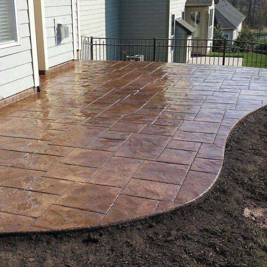 Landscape Design Ideas (With images) | Concrete patio, Stamped ...