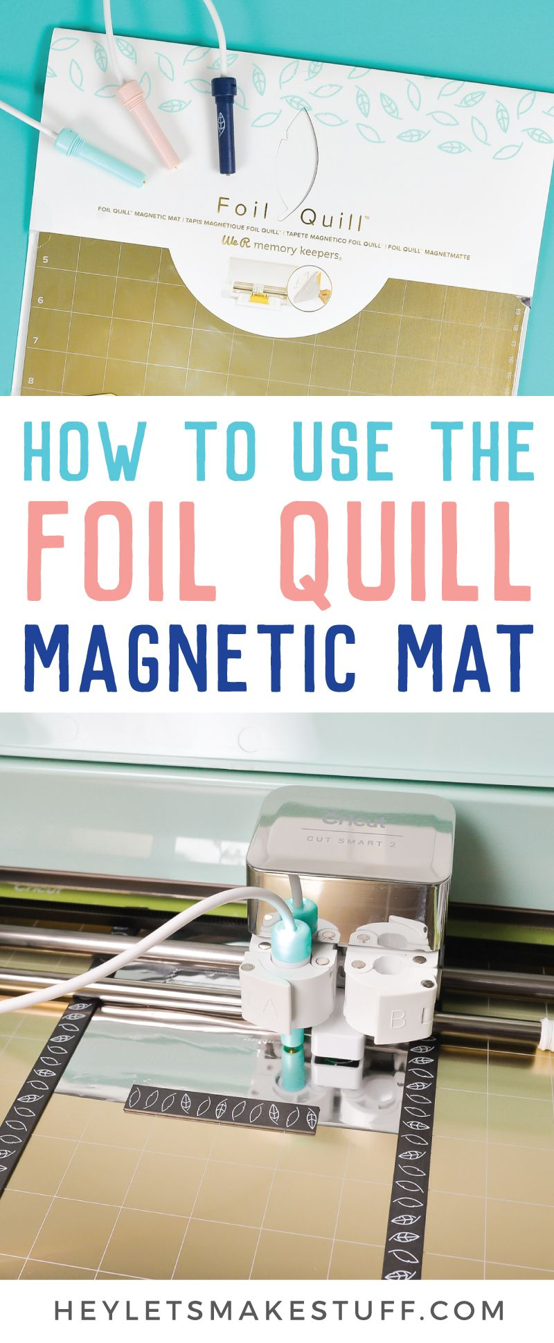 Using The Foil Quill Magnetic Mat Quilling Metal Working Projects Cricut Tutorials