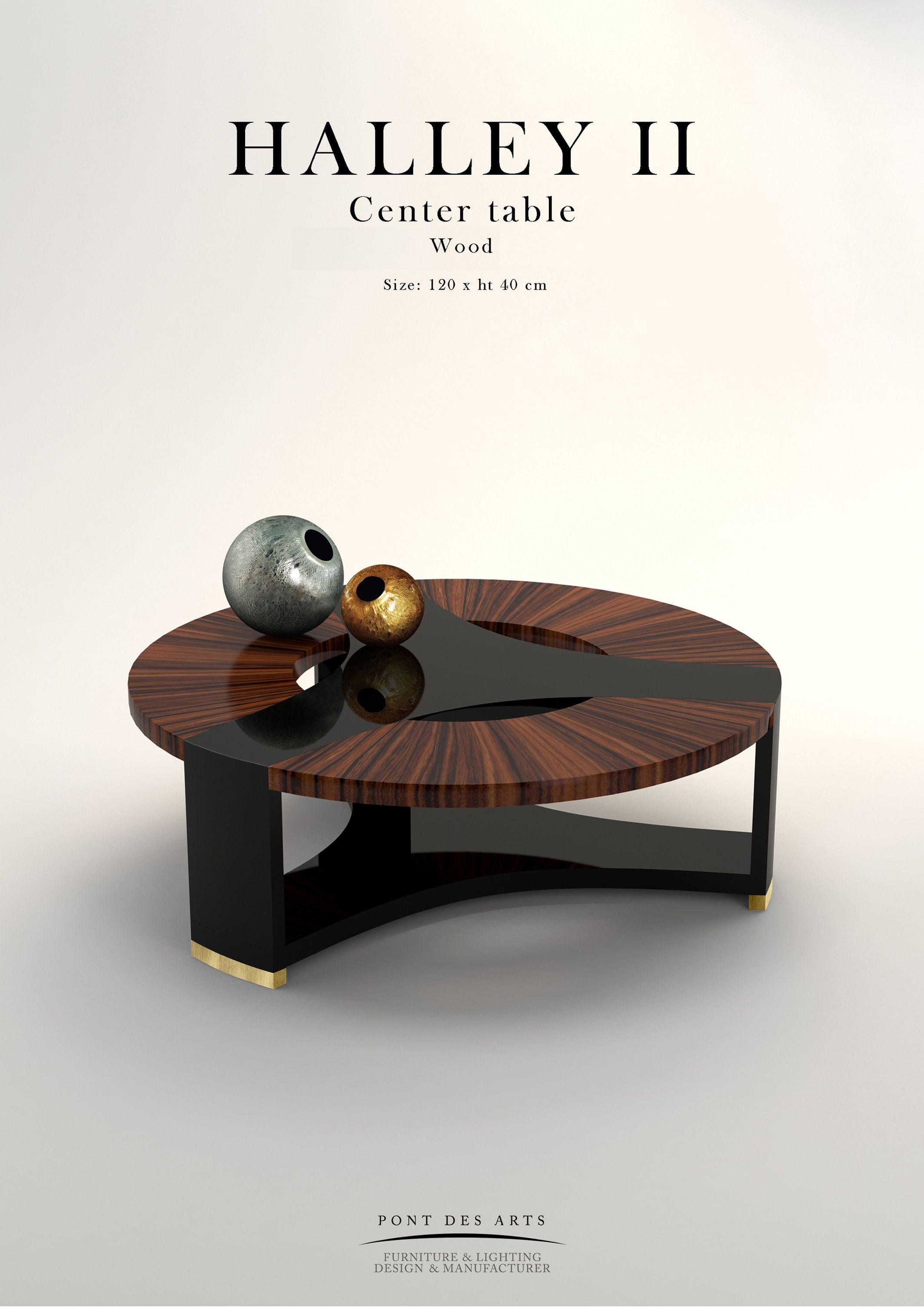Halley center table pont des arts designer monzer for Mobilia center e confiavel