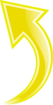 Arrow Curved Yellow Up Curved Arrow Arrow Symbols