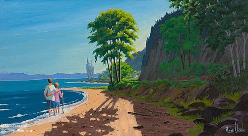 """Rémi Clark - """" Sur une plage de Charlevoix """""""