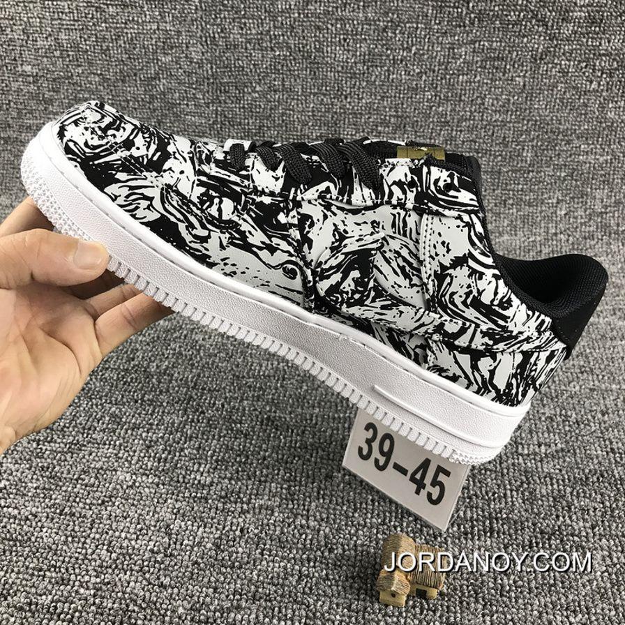 Nike Air Force 1 AF1 UPSTEP LOW BHM 920788 Zebra Shoes