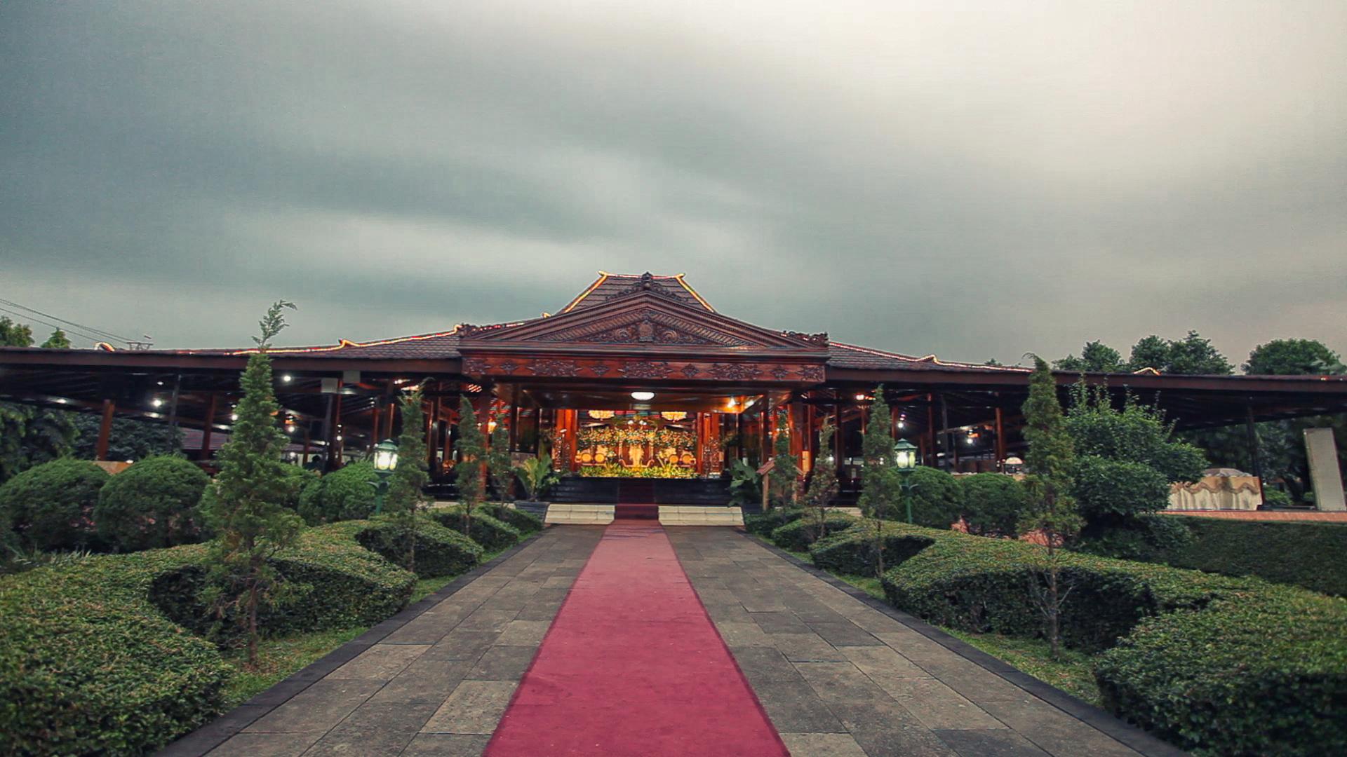 The venue Anjungan Jawa tengah, TMII Jakarta wedding