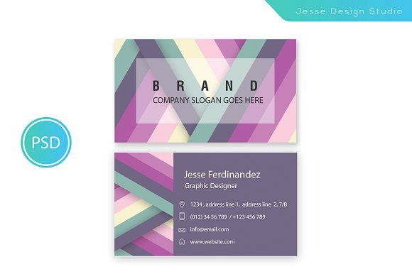 Modern business card template vol 06 by jesse designs on modern business card template templates modern business card template vol double sided business card photoshop cs by jesse designs flashek Gallery