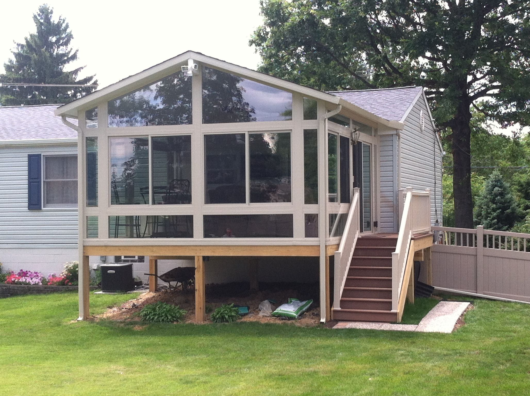 A four season sunroom we recently did 4 season sunroom for 4 season sunroom