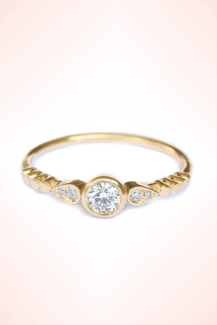milano 018ct diamond delicate engagement ring thin diamond ring thing gold band 14k
