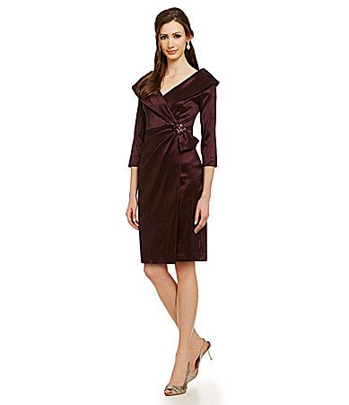 5ead7014638 Emma Street Surplice-Wrap Taffeta Dress