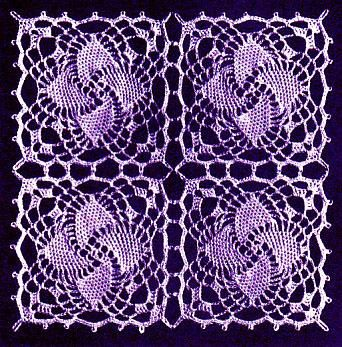 Spinning Star (4 motifs in 1 square) - free pattern