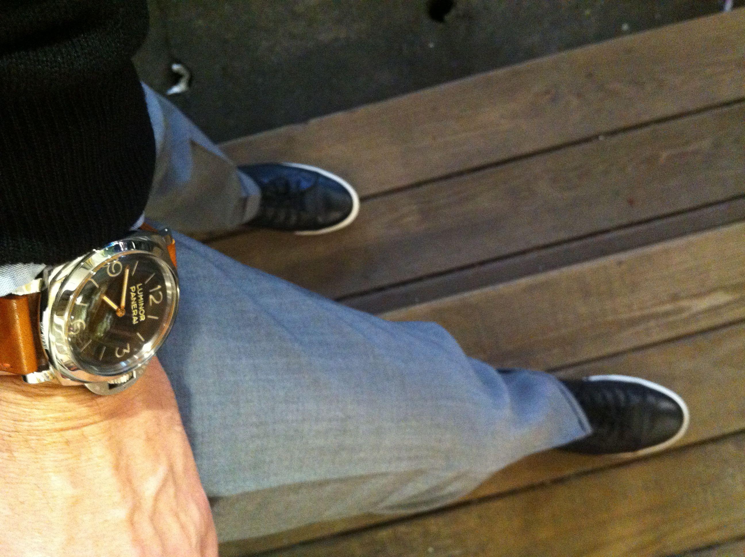 Panerai 372 on Carmel Toshi strap, Paul Smith slacks ...