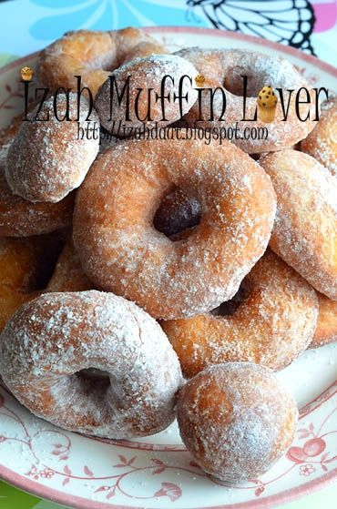 Izah Muffin Lover: Donut Labu Resepi II in 2019 | Donuts ...