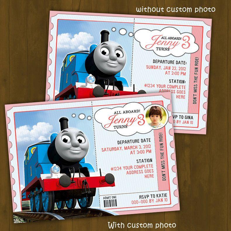 Thomas Train Invitation FOR GIRLS - Thomas and Friends Printable ...