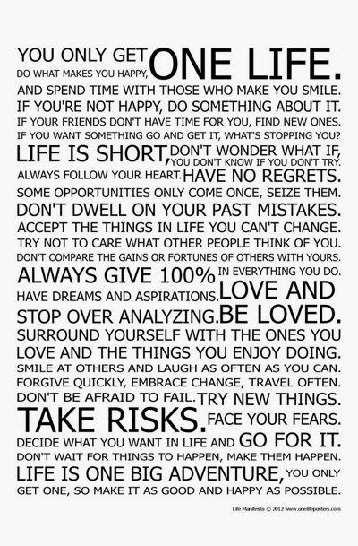 Life Manifesto Poster