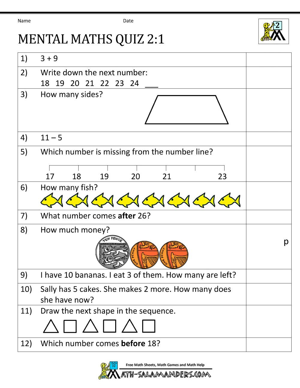 5 Mental Math Practice Worksheets In 2020 Math Practice Worksheets Math Worksheets Mental Maths Worksheets
