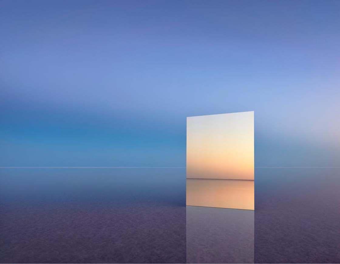 Vanity photographier un immense miroir dans des paysages surr alistes photos pinterest for Immense miroir