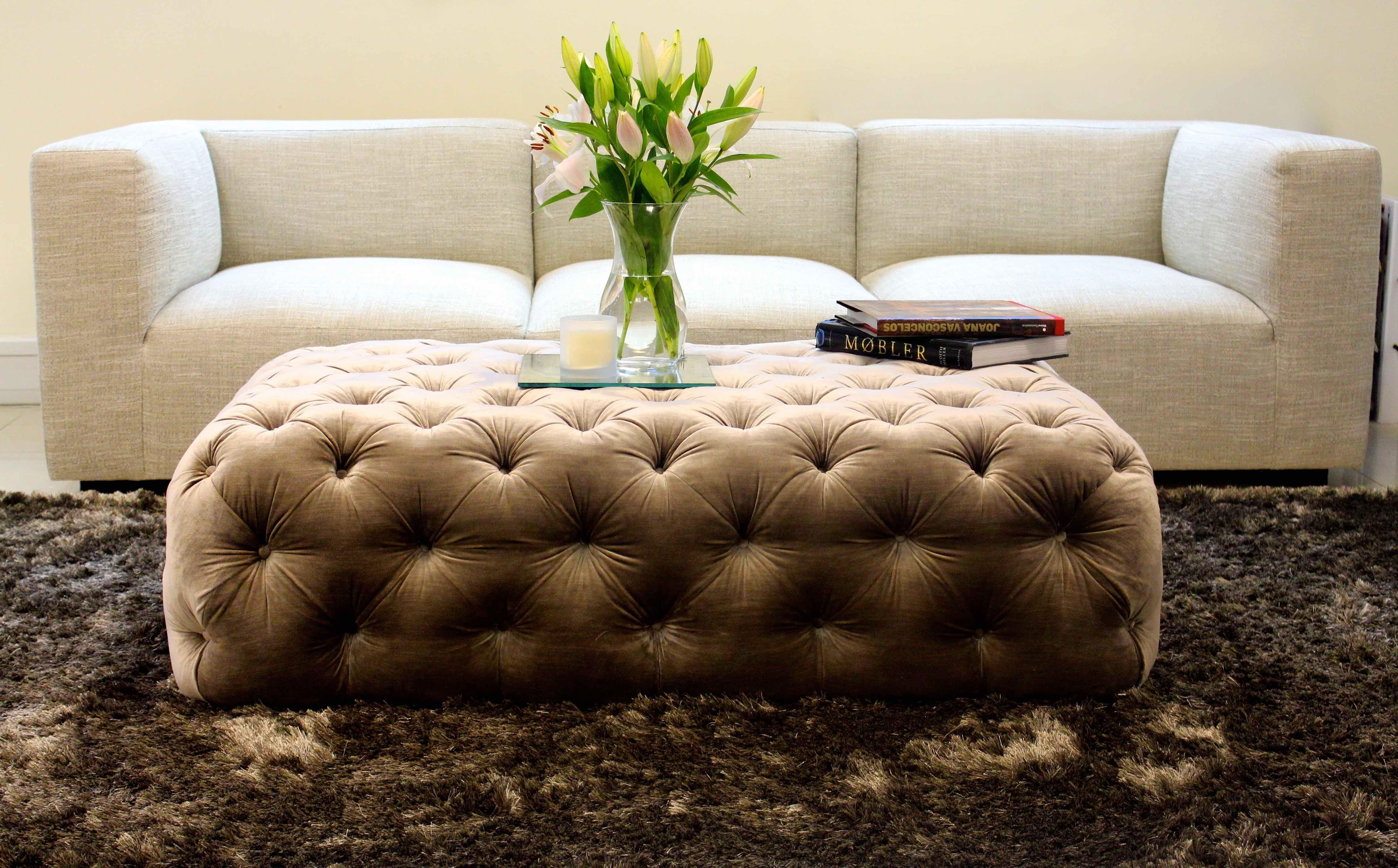 Oned Ottoman As A Coffee Table