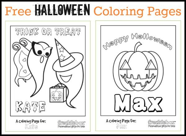 Frecklebox One Day Halloween Sale Halloween Coloring Pages Free