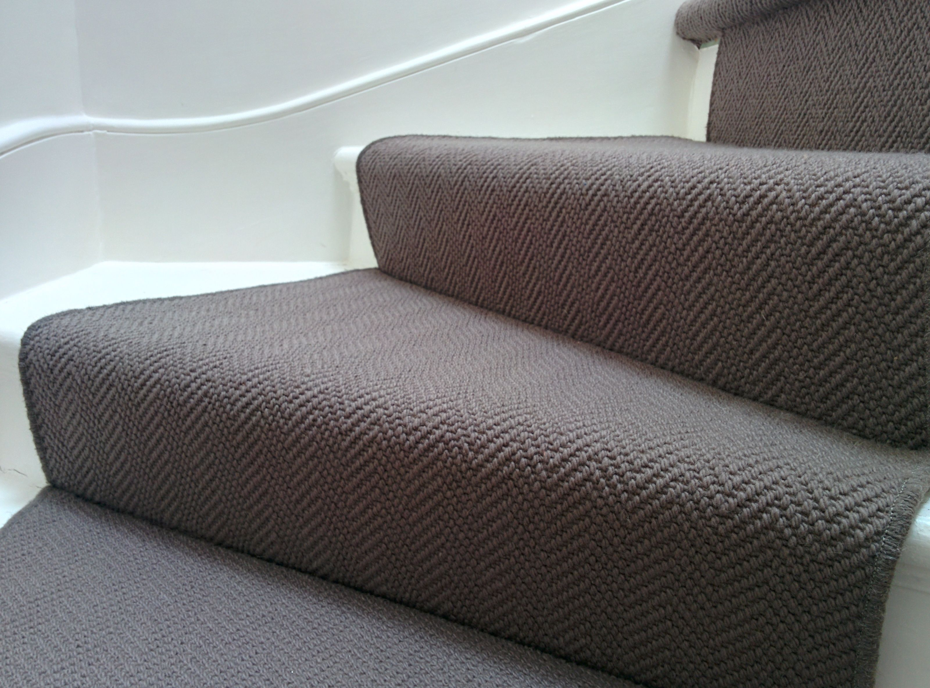 Best Brown Herringbone Stair Runner By B R Carpet Company 640 x 480