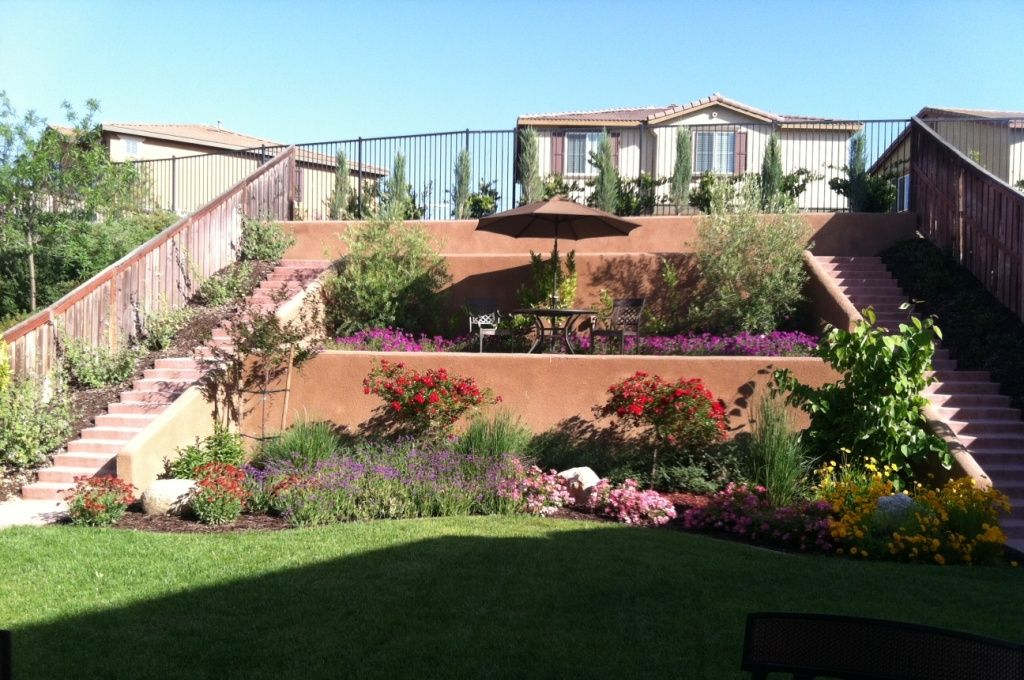 Hillside Walls And Terraces Temecula Landscaping