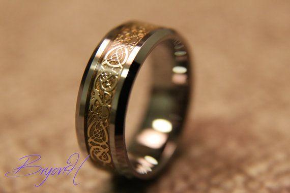 Matching Size Tungsten Wedding Bands Wedding Ring Inlay Etsy Tungsten Wedding Band Sets Tungsten Wedding Bands Wedding Band Sets